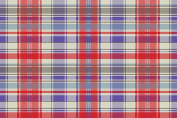Red plaid tartan fabric texture seamless pattern