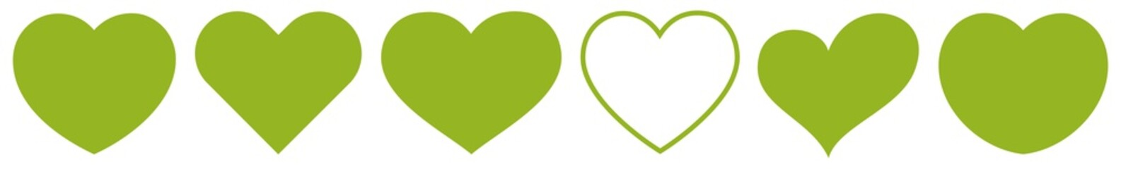 Heart Green | Eco | Nature | Love | Logo | Variations
