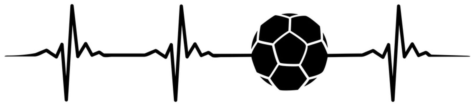 football soccer heartbeat #isoliert #vektor - Fußball Herzschlag