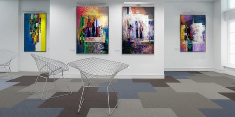 Gemäldeausstellung (panoramisch)