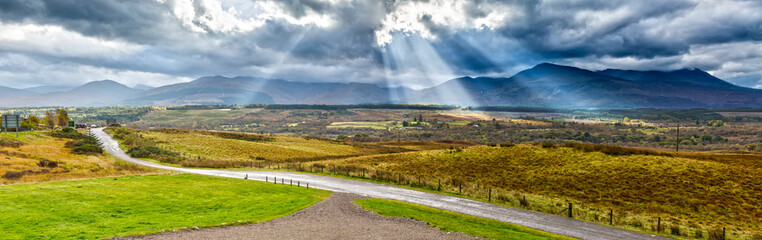 Panoramic Impression View of the Highlands