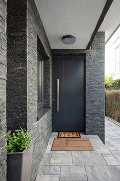 Entrance door into modern house