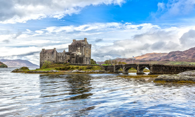 Acrylic Prints Historical buildings Eilean Donan Castle in Autumn