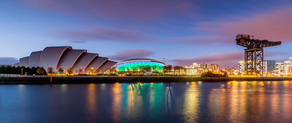 The Armadillo and the SSE Hydro in Panoramic View Wall mural