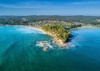 Fotorolgordijn Kust Aerial views of Batemans Bay Australia