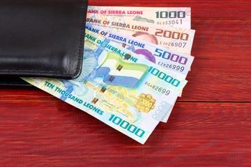 Sierra Leonean money in the black wallet