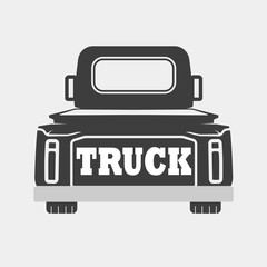 Illustration of the truck with the inscription