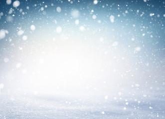 Winter snowflakes snowtorm snow background