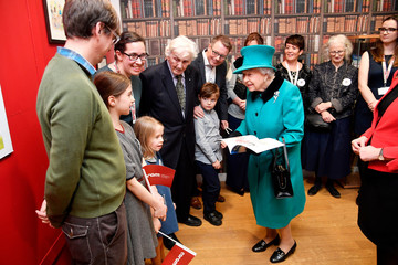 Britain's Queen Elizabeth visits children's charity Coram in London