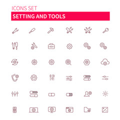 setting and tools