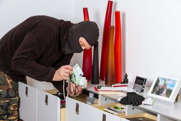 Einbrecher im Haus - Burglar in the hous