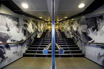 Real Madrid tunnel is seen at Santiago Bernabeu stadium in Madrid