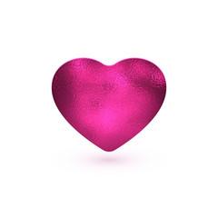 pink foil heart