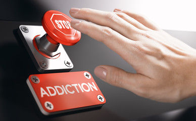 Psychology concept, Stop Addiction or Dependence