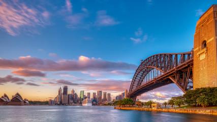 Sunrise on Sydney Harbour from Milsons Point, NSW, Australia