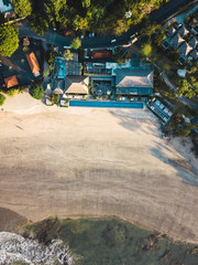 Indonesia, Bali, Aerial view of Jimbaran beach from above