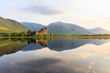 Great Britain, Scotland, Scottish Highlands, Argyll and Bute, Loch Awe, Castle Ruin Kilchurn Castle