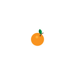 Orange fruit flat icon. Vector illustration isolated on white background.