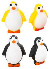 penguin, black, yellow, white, toy, background, space, winter, copy, animal, cold, funny, bird, decoration, beautiful, view, design, nature, side, rubber, close-up, old, holiday, fun