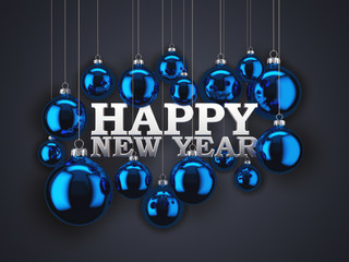 3D Rendering New Year's Card
