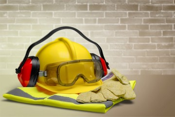 Safety Equipment - Helmet, Goggles, Ear Protection, Vest and