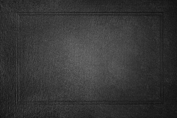 Black paper with frame background. Front book cover.