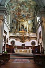 Interior of the church of San Giuseppe Florence Italy