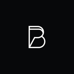 Outstanding professional elegant trendy awesome artistic black and white color BP PB initial based Alphabet icon logo.
