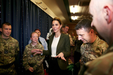 Britain's Catherine, The Duchess of Cambridge, attends a party for service personnel at RAF Akrotiri