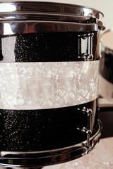 Custom made black and white drum