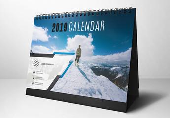 2019 Desk Calendar Layout