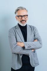 Smiling middle-aged man front portrait