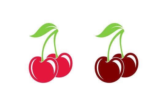 Cherry. Fresh berries on white background