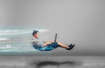 High internet speed Fotobehang