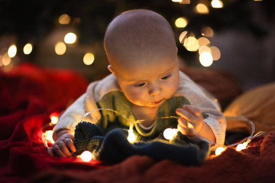 baby eats Christmas garland, child safety