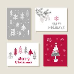 Set of christmas cards17