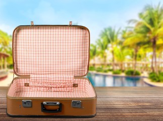 Vintage Suitcase  isolated on  background