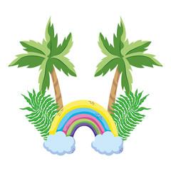tropical rainbow cartoon