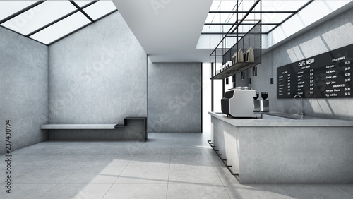 Cafe shop Restaurant design Minimalist counter concrete Top counter