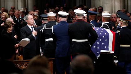 Funeral service for the former U.S. President George H.W. Bush in Washington