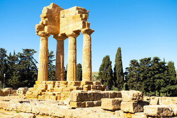 Agrigento, Sicily. Greeks temple of Italy. The ruins are the symbol of Agrigento city.