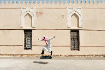 Skateboarding in Jeddah, Saudia Arabia