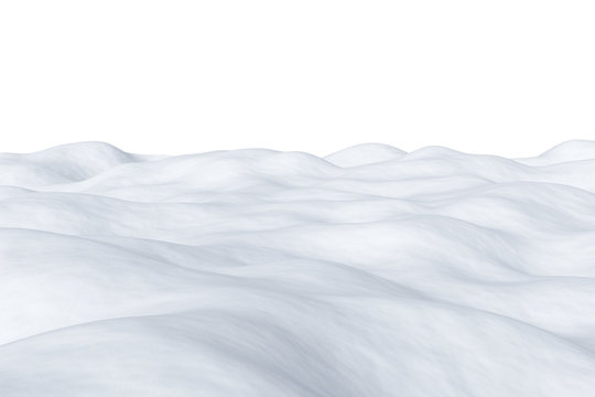 White snowy field isolated.