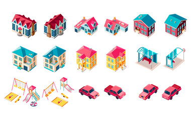 Set building children playground car