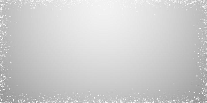 Random white dots Christmas background. Subtle fly
