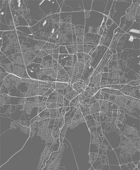 map of the city of Munich, Bavaria, Germany