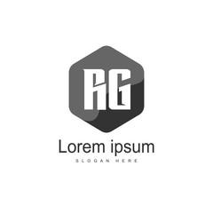 Fototapeta RG Logo template design. Initial letter logo design obraz