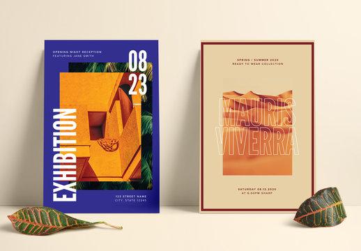 Exhibition Postcard Layout