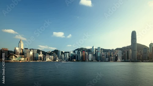 Fototapete Hong Kong sunset, time lapse