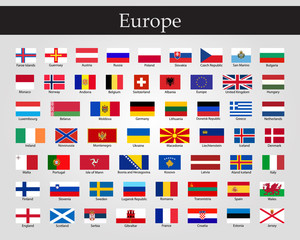 Flags of Europe - Full Vector Collection. Vector EPS 10